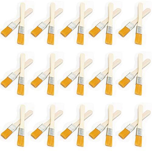 Jixista 30-teiliges Pinselset Profi und Qualitäts Malerpinsel Lackpinsel Lack Farbe streichen Malerpinsel für Farben, Beizen Lacke Klebstoffe und Gesso Grundierung Flachpinsel Lasurpinsel