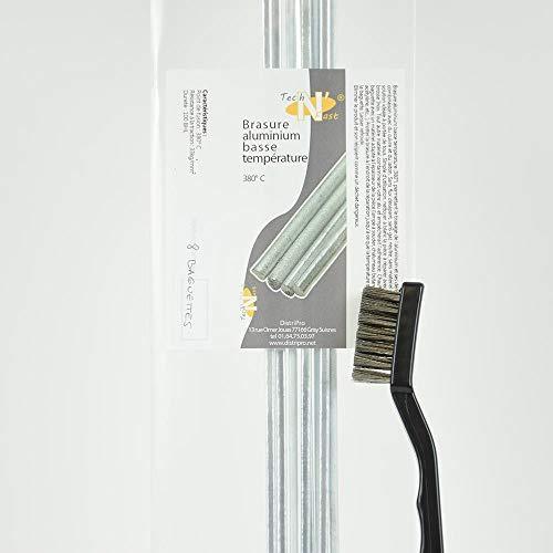 ALU'N'BRAZ : Kit brasure Aluminium basse température + brosse inox