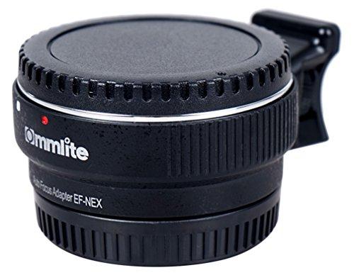 Commlite Auto Fokus EF-NEX EF-E-Mount-Objektiv-Mount-Adapter für Canon EF EF-S Objektiv an Sony E NEX Mount 3/3N/5N/5R/7/A7 A7R Full-Frame, Farbe schwarz