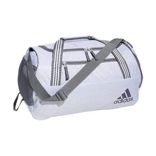 adidas Women's Squad 5 Duffel Bag, Jersey White/Grey, One Size