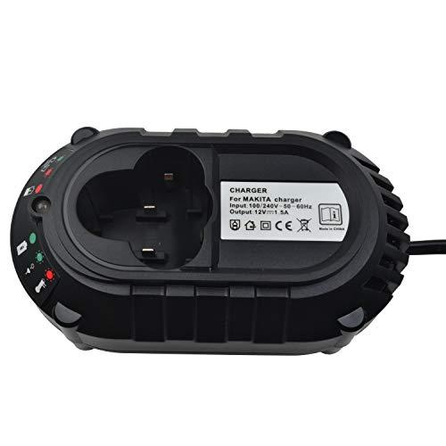 Cargador de batería de iones de litio para Makita BL1013 BL1014 BL7010, baterías de iones de litio de 10,8 V-12 V, reemplazo para DC07SA DC10WA