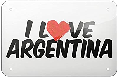 Bair89Pulla Cartel de Aluminio con Texto en inglés I Love ...