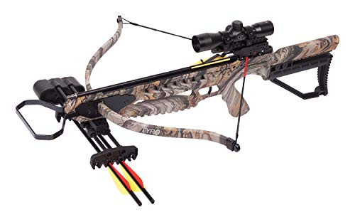 CenterPoint Tyro 4X Recurve Crossbow Package With 4x32mm Scope, Camo