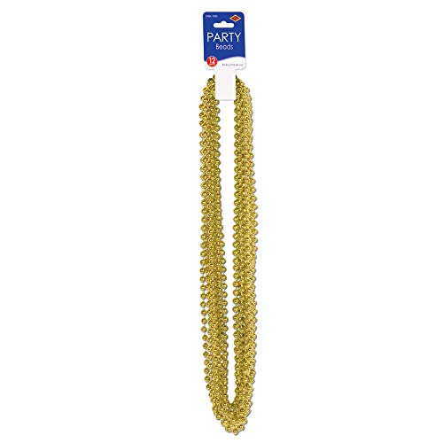 Party Beads - Small Round (gold) (12/Card)