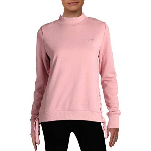 BEBE SPORT Womens Fitness Workout Sweatshirt Pink M