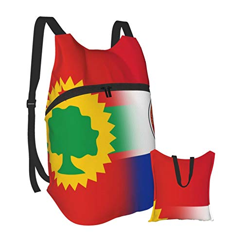 Flag of The Oromo Liberation Front&Paraguay Outdoor Foldable Travel Backpack Durable Hiking Backpack