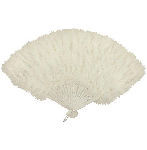 Oromiss costume Fluffy Ventaglio di piume Burlesque Moulin Rouge Fancy Dress Marabù morbida Paris White Taglia unica