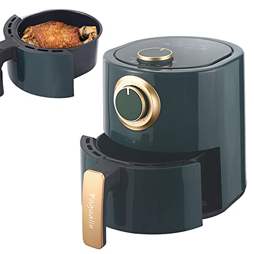 FUGUALIN 1000W Multifunktions-Luftfritteuse Antihaft-Korb, 4.23QT, für gesundes ölfreies & fettarmes Kochen, Elegantes Grün