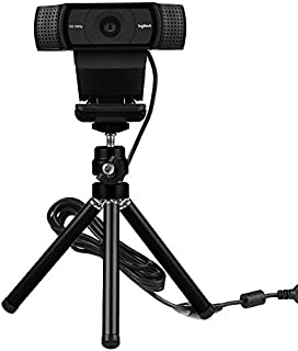 Lightweight Mini Webcam Tripod for Smartphone, Logitech Webcam C920 C922 Small Camera Desk Tripod Mount Cell Phone Holder ...