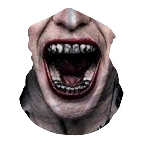 Big Mouth Joker Half Face Mask Neckchief Face Scarf Sun Protection Headbands Windproof
