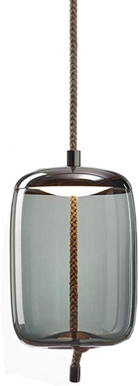 HJXDtech Modell-XJGA Eisen und Glas Hngelampe Beleuchtungskrper Pendelleuchte Kreativer Einfacher Kronleuchter mit LED-Lichtquelle (Grau)