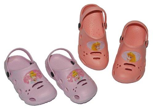alles-meine.de GmbH Clogs Disney Prinzessin Princess - Größe 26 Schuhe Schuh Sandalen Badeschuhe Hausschuh Pantoffel Kinder rosa pink