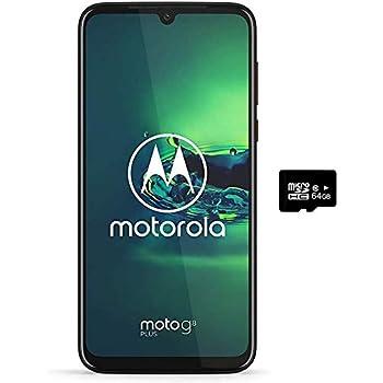 "Motorola Moto G8+ Plus (64GB, 4GB) 6.3"", 48 MP Camera, 4000mAh Battery, Dual SIM GSM Unlocked (at&T/T-Mobile/MetroPCS/Cricket/H2O) XT2019-2 - International Version (Red, 64GB + 64GB SD + Case Bundle)"
