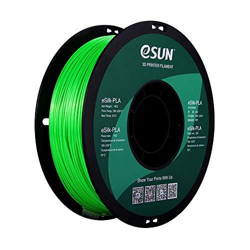 eSUN eSilk - Filamento PLA verde, 1,55 kg