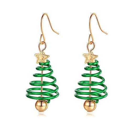 Christmas Drop Dangle Earrings, Christmas Earring Jewelry Gifts, Small Cute Christmas tree Earring, Jewelry for Women Girls(ChristmasTree01)