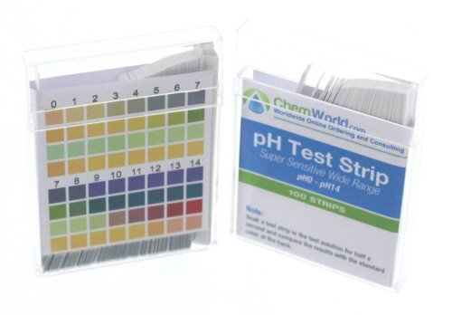 pH Test Strips - pH Strips - pH Strips for Water - pH Test 0 to 14-100 Tests