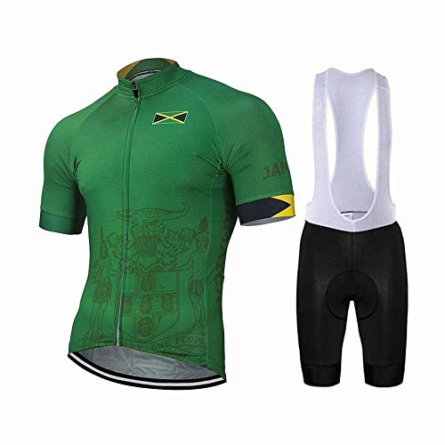 Factory8 - Country Jerseys - Love Your Country! Cycling Jerseys & Sets Collection - Team Jamaica Men's Cycling Jersey & Bib Short Set - Jersey & Bib Short Set - L