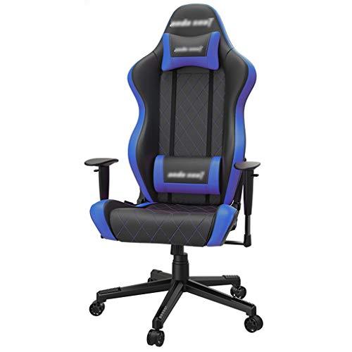Bürostuhl Wygodne krzesło dla gości i konferencji, krzesło do zabawy, wygodne krzesło domowe, konkurencyjne krzesło do zabawy, leżące podłokietniki (kolor: niebieski, rozmiar: 70 x 53 x 135 cm)