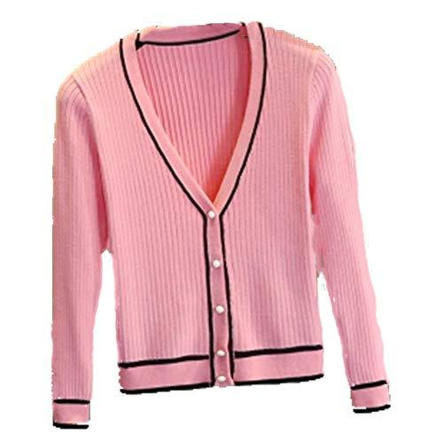 N\P Raya Cardigan De Las Mujeres De Punto Suéteres De Primavera Y Otoño Abrigo De Cuello En V Más El Tamaño