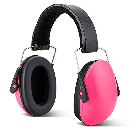 IWILCS Kids Oorbeschermers, gehoorbeschermers, geluidsbeschermingskoptelefoons, kinderoorbeschermers, oorbeschermers, voor kinderen met verstelbare hoofdband (roze)