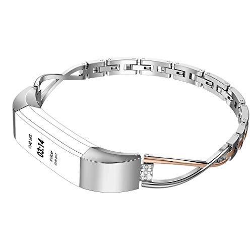 Wearlizer für Fitbit Alta HR Armband, Metall Ersatzband Band Armbänder Uhrenarmband für Fitbit Alta/Fitbit Alta HR