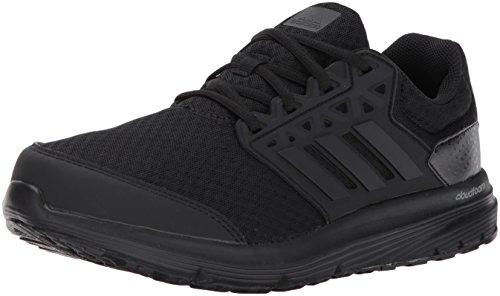 adidas Performance Men's Galaxy 3 Wide m Running Shoe, Black/Black/Black, 9.5 W US