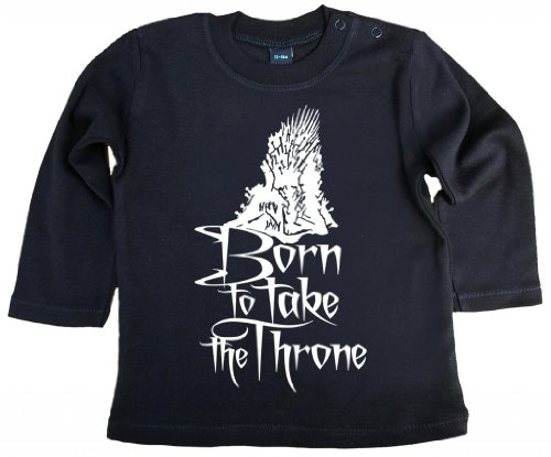 Image Vêtements bébé, Born to Take The Throne, bébé Manches Longues T-Shirt, 18-24m, Noir