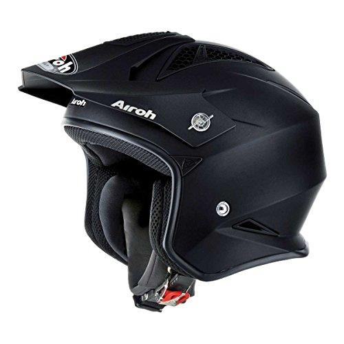 Airoh Motorrad Helm TRR, Matt Schwarz, 56-S