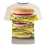 Francese Patatine 3D Stampato Tshirt Uomo Donna Birra Hip Hop Manica Corta Cola Chips Hamburger Cafe Rock Tx017 XXXXL