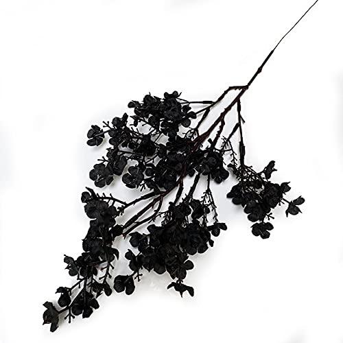 Fiori artificiali Ramo bianco Fiori finti Bouquet lungo Decorazione di nozze per la casa Autunno,Nero,1 PC