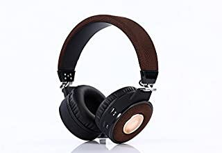 Bluetooth Headphones, Fordable Noise Cancelling Headphones Over Ear with Mic (Brown)
