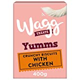 Wagg Yumms - Biscotti per cani con pollo, 400 g, confezione da 5...
