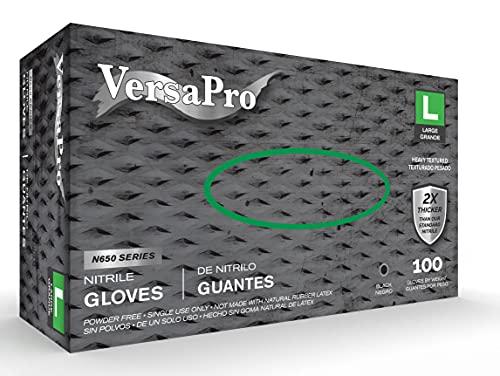 Guantes Latex Negros  marca VersaPro