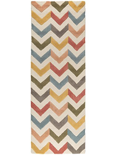 Benuta Wollteppich Windsor Läufer, Wolle, Multicolor, 80 x 240.0 x 2 cm