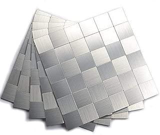 Best brushed aluminum backsplash tiles Reviews