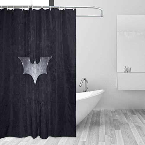 Why So Serious Joker Batman Duschvorhang Wasserdicht Anti-Schimmel Duschvorhang mit 12 Haken