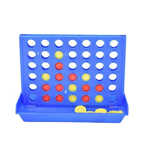 MAYOKIAAR Juego de juego de 4 en una línea divertido para niños clásico original cuatro en una fila juegos familia juegos de ajedrez conjunto