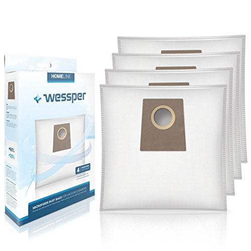 Wessper® Staubsaugerbeutel für Bosch BGL35MON Vanilla (4 Stück, Synthetische)