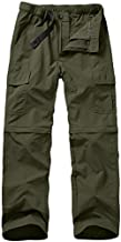 Hiking Pants for Men Quick Dry Lightweight Summer Casual Cargo Work Pants Zip Off Convertible to Shorts Hiking Fishing Safari Everyday Wear (ZB02 Army Green 38)