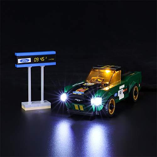 LIGHTAILING Set di Luci per (Speed Champions Ford Mustang Fastback) Modello da Costruire - Kit Luce LED Compatibile con Lego 75884(Non Incluso nel Modello)