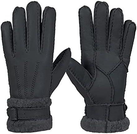 UKKO Winter Gloves Gloves Fashion Men Winter Autumn Warm Thermal Snow Mittens Outdoor Five Finger Wrist Gloves-Dark Grey,One Size