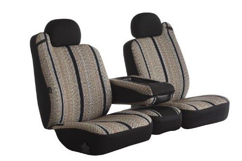 Fia TR49-38 BLACK Custom Fit Front Seat Cover Split Seat 40/20/40 - Saddle Blanket, (Black)
