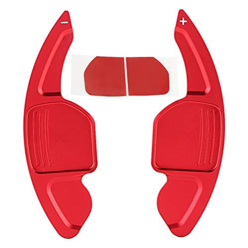 KIMISS 2 pezzi In lega di alluminio Car Shift Paddle Shift Shifter estensione per A3 A4L A5 A6 A7 A8 accessori di colore rosso brillante