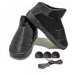Idea Regalo - 1 Paio Di Pantofole Riscaldate Per Riscaldamento Elettrico Per Pantofole Riscaldate Per L'inverno 42-44EU(30CM)