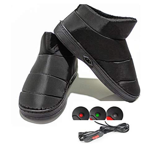 1 Paio Di Pantofole Riscaldate Per Riscaldamento Elettrico Per Pantofole Riscaldate Per L'inverno 42-44EU(30CM)