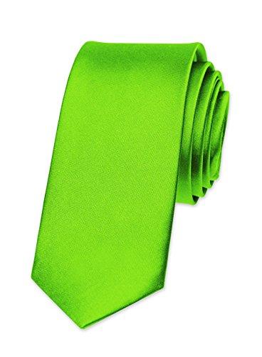 Autiga® Krawatte Herren Hochzeit Konfirmation Slim Tie Retro Business Schlips schmal neongrün