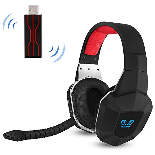 PS4 Wireless Gaming Headset USB for PC Computer Nintendo Switch PS4 Slim with Virtual 7.1 Surround Sound and Stereo Over Ear