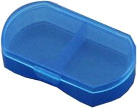 Cxjff 2 Grids Mini Pill Box Portable Pills Medicine Storage Case Container (Blue)