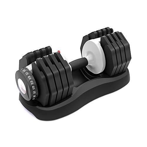 ATIVAFIT - Mancuerna Ajustable de 25kg con Sistema de dial Ajustable para Uso doméstico, para Hombres y Mujeres, Gimnasio