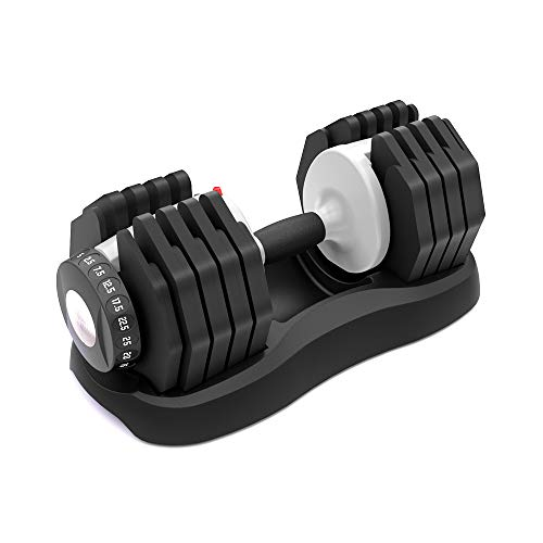 ATIVAFIT Adjustable Dumbbell Fitness Dial Dumbbell with Handle and...